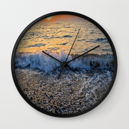 Sunset and Stones II Wall Clock