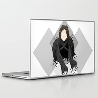 jon snow Laptop & iPad Skins featuring Jon Snow by itsamoose