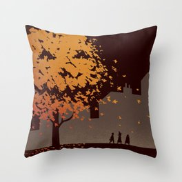 Halloween Tree Throw Pillow