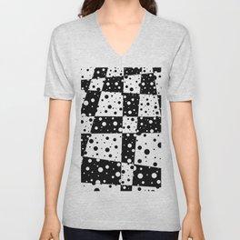 Holes In Black And White Unisex V-Neck
