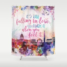 The Lovely Reckless - Like Falling in Love Shower Curtain
