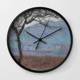 Landscape at Giverny by Claude Monet Wall Clock
