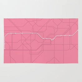 London Underground Hammersmith & City Line Route Tube Map Rug