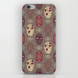 Patchwork seamless floral abstract pattern texture background iPhone Skin