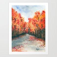 Autumn Journey Art Print