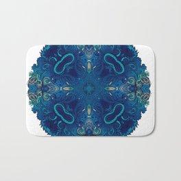 Blue Cobalt Indian Mandala Bath Mat