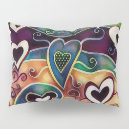 Funky Hearts Pillow Sham