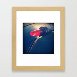 Vintage Tail Light Framed Art Print