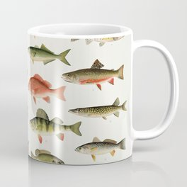 Illustrated North America Game Fish Identification Chart Coffee Mug
