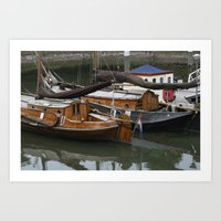 boats Art Prints featuring Boats by constarlation