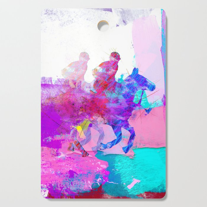poloplayer abstract redblue Cutting Board
