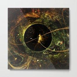 Galactica Space Travel Flame Fractal Metal Print