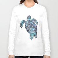 sea turtle Long Sleeve T-shirts featuring Sea Turtle by LebensART