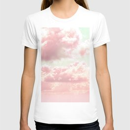 Pastel Pale Pink Cotton Candy Clouds T-shirt