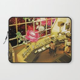 Observing what's out there, a space sci fi collage Laptop Sleeve