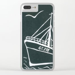 Ross Tiger in Grey Clear iPhone Case
