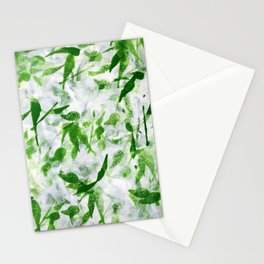 Green Abstract Pattern Stationery Cards