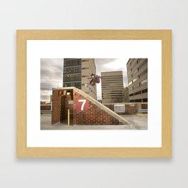 Bam Margera - 7 Bank Framed Art Print