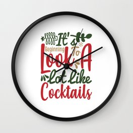 Is beginning to loke alot like cocktails Wall Clock