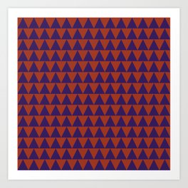 TRIANGLES, RED AND BLUE Art Print