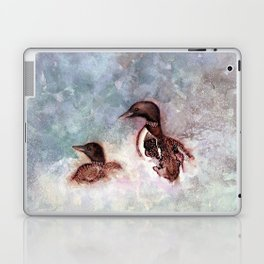 Loon Calling by Maureen Donovan Laptop & iPad Skin