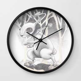 Renegade Rabbit Wall Clock