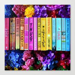 Rainbow Book Spines Canvas Print