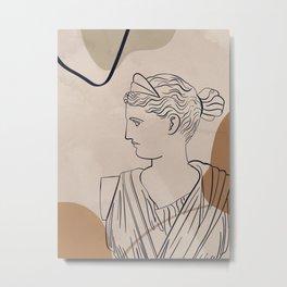 Minimal Art-Greek Goddess Artemis  Metal Print