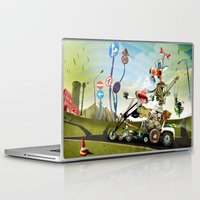 taxi driver Laptop & iPad Skins featuring Driver by Ali GULEC
