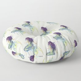Mermaid - Natural Floor Pillow