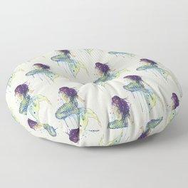 Mermaid - Natural Floor Pillow