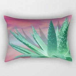 """""""Pastel Succulent Pink Sunset"""" Rectangular Pillow"""