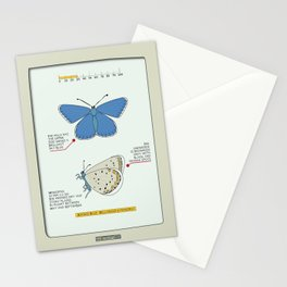 Adonis Blue (Bellargus Lysandra) Stationery Cards