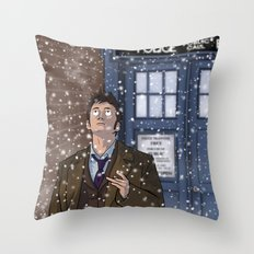 Real Snow - Doctor Who Throw Pillow