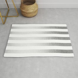 Simply Striped Moonlight Silver Rug