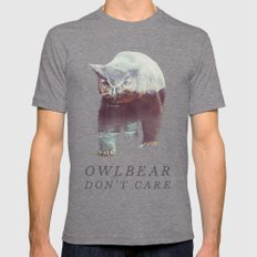 Owlbear (Typography) Tri-Grey Mens Fitted Tee MEDIUM