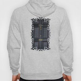 Haunted black door with 221b number Hoody