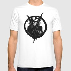 V for Vendetta3 MEDIUM White Mens Fitted Tee