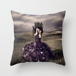 Attached to earth Throw Pillow