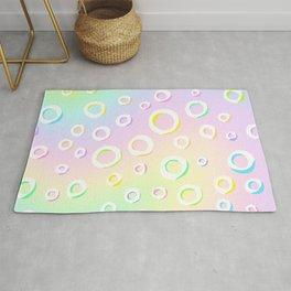 Colorful Loopy Rainbow Pastel Design! Rug