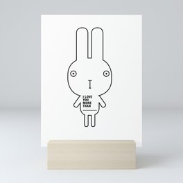 MOOKii Co. LOVE YOU BUNNY Mini Art Print
