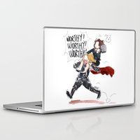 peggy carter Laptop & iPad Skins featuring PEGGY CARTER IS WORTHY. by Maryne.