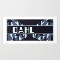 roald dahl Art Prints featuring Dahl secondary by Bro Johnson