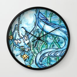 Underwater Panther Wall Clock