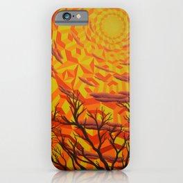 Sun Bathing Naked Trees iPhone Case