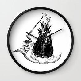 Ibis in the Garden of Earthly Delights Wall Clock