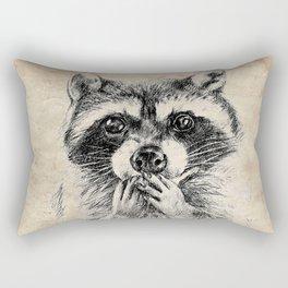 Surprised raccoon Rectangular Pillow