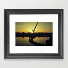 Peace Bridge, Derry.  Framed Art Print