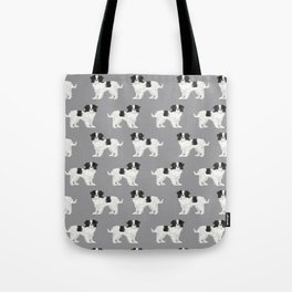Japanese Chin dog breed cute illustration custom pet portrait by pet friendly Tote Bag