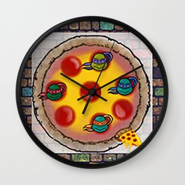 Pizza dude Wall Clock